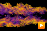 MSCEER - dissipation elements in a combustion simulation